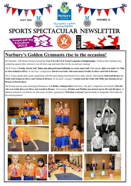 Sports Newsletter Number 13