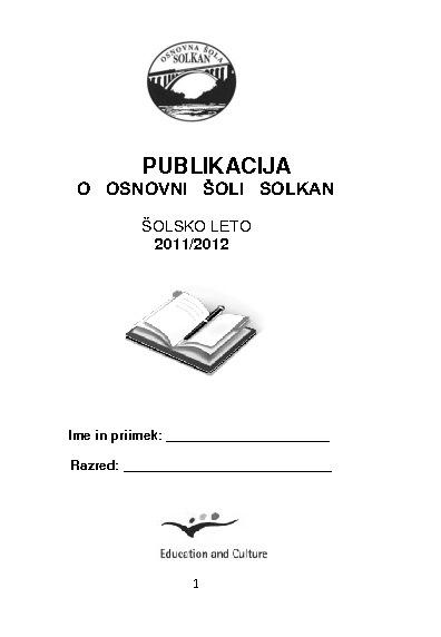 Publikacija OŠ Solkan 11/12