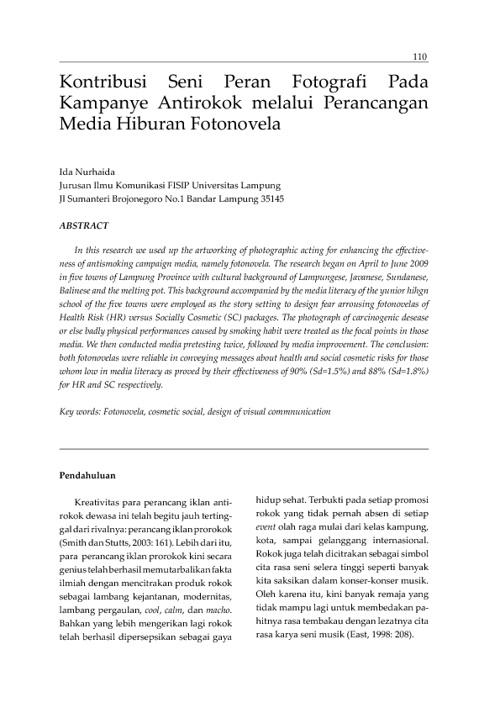Jurnal Panggung Volume 21 No 2 Tahun 2011