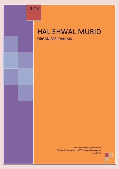 HAL EHWAL MURID