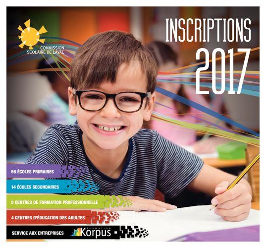 Cahier des Inscriptions 2017- Commission scolaire de Laval