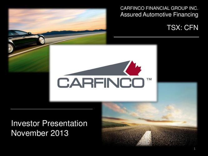 November 2013 - Investor Presentation
