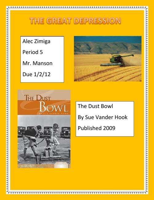 Alec Zimiga Dust Bowl Book