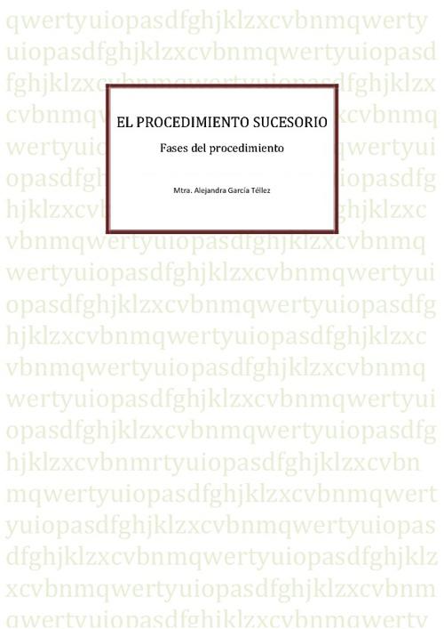 Procedimientos Sucesorios