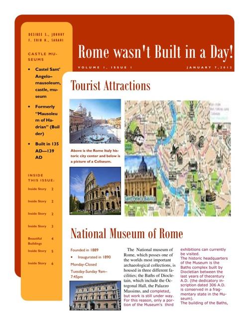 Modern Rome Newsletter