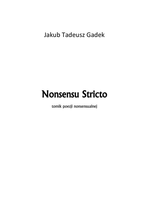 Nonsensu Stricto