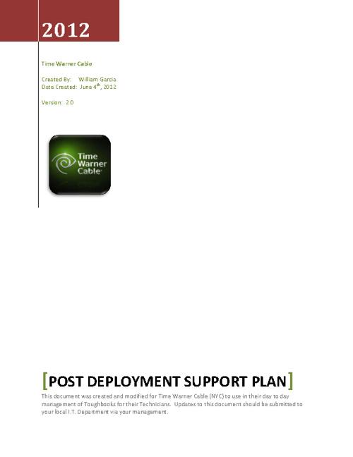Post Deployment Procedures