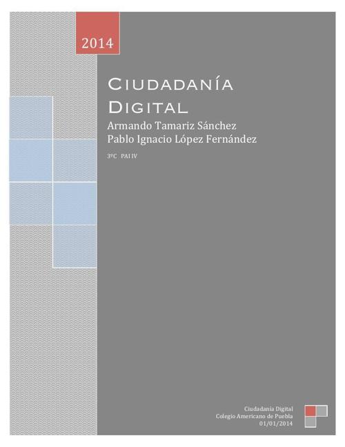 Ciudadania Digital Armando y Nacho 3ºC
