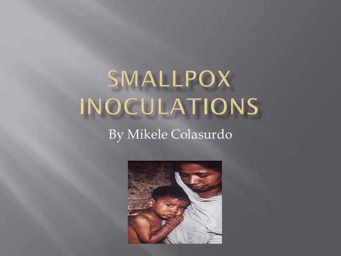 Mikele Colasurdo smallpox