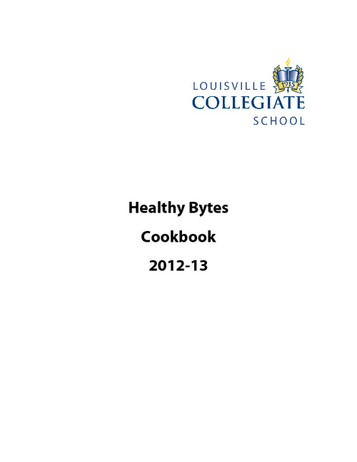 Healthy Bytes Cookbook