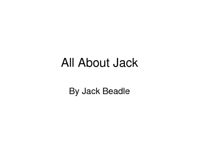All about Jack