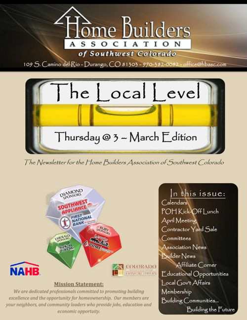 Local Level ~ Thursday @ 3 - March Edition