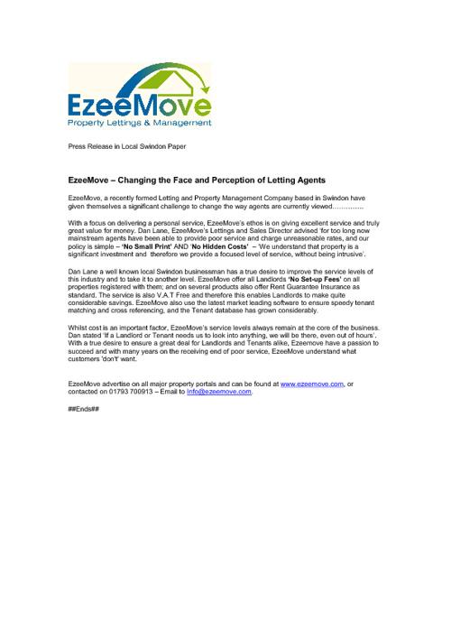 EzeeMove Letting Agents