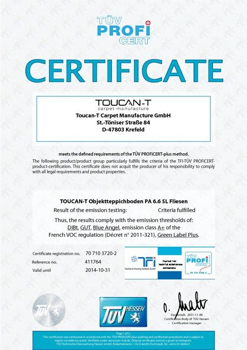 Toucan-T Certificates