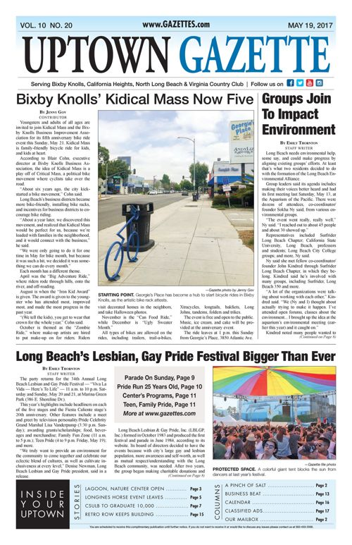 Uptown Gazette  |  May 19, 2017