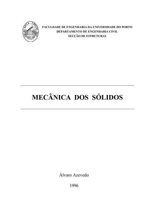 Mecânica dos sólidos