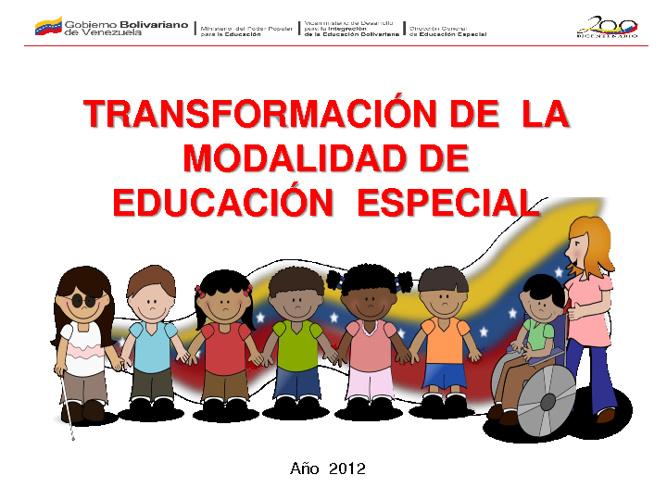 Proyecto Educación Especial 2012 (Venezuela)