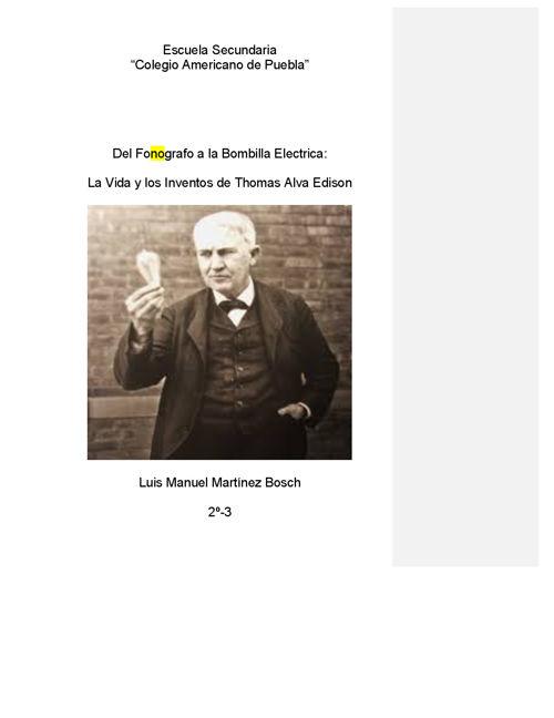 Luis Manuel M. Biografia Edison