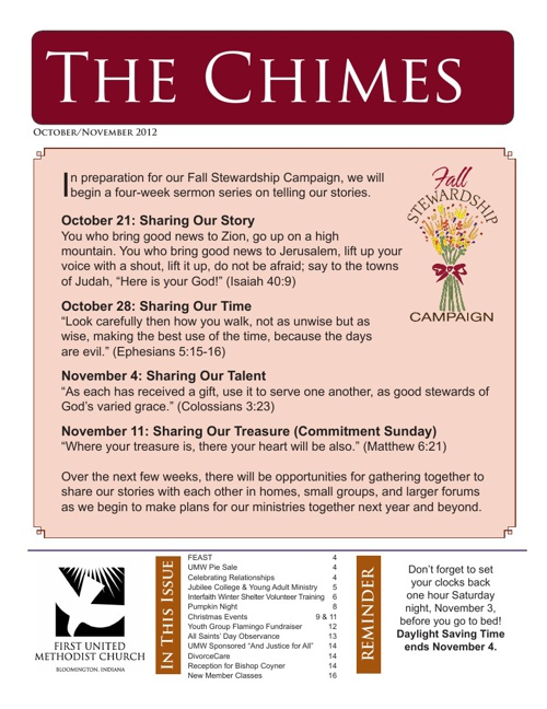 The Chimes: October-November 2012 Edition