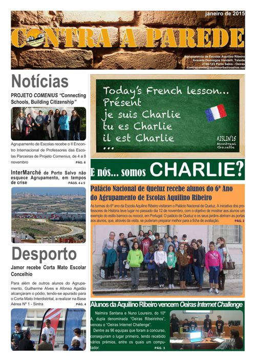 Jornal Contra a Parede - Janeiro 2015