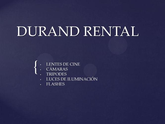 DURAND RENTAL