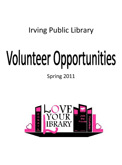 Volunteer Opportunities Brochure