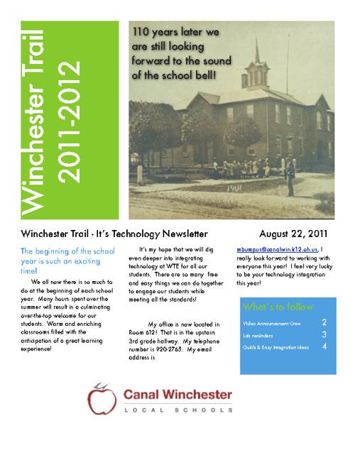 August 2011 Tech Newsletter