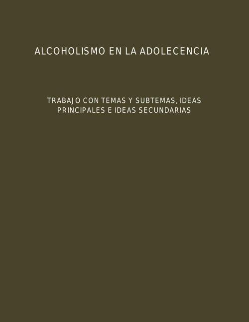 ALCOHOLISMO EN LA ADOLECENCIA