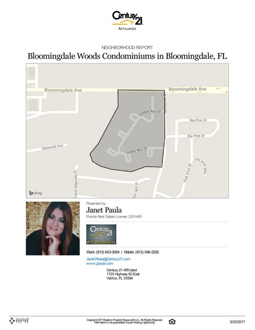 Neighborhood Report for Bloomingdale Woods Condominiums