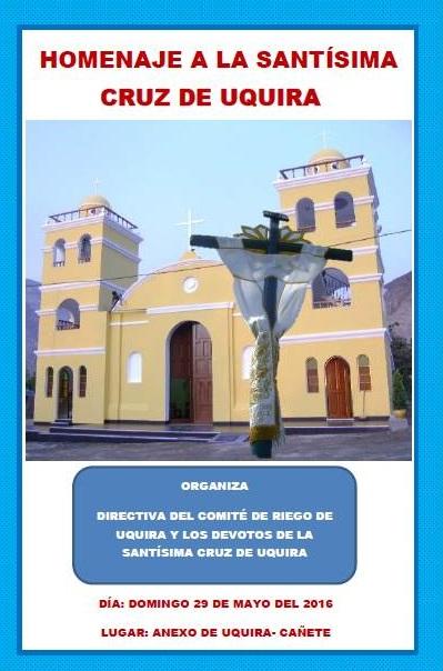 Programa en homenaje a la Santísima Cruz de Uquira 2016