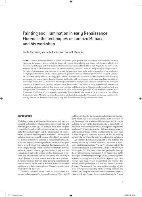 The Renaissance Workshop: The Materials and Techniques of Renais