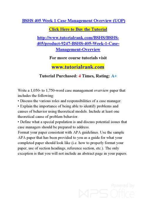 BSHS 402  Course Success Begins / tutorialrank.com