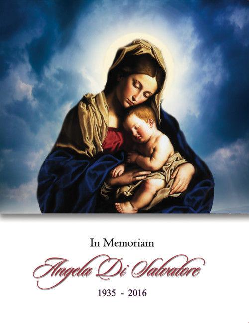 Memorial Card for Angela Di Salvatore (nee Rossi)