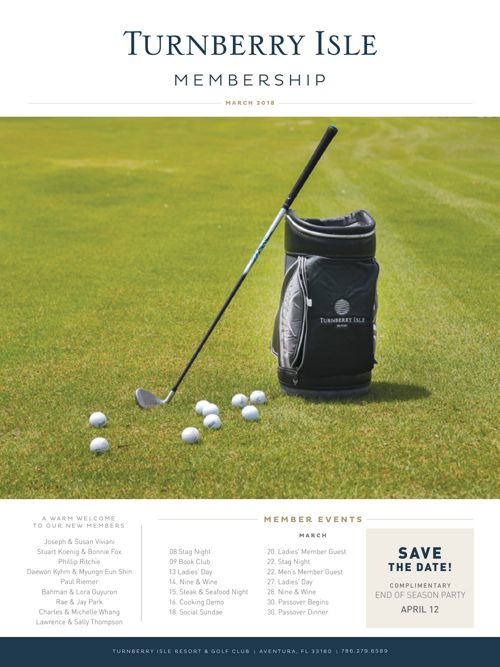 Turnberry Isle Membership - March Newsletter