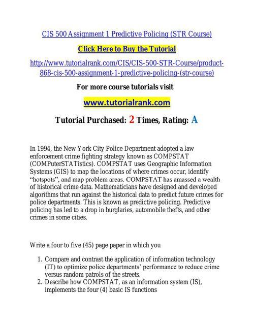 CIS 500 learning consultant / tutorialrank.com
