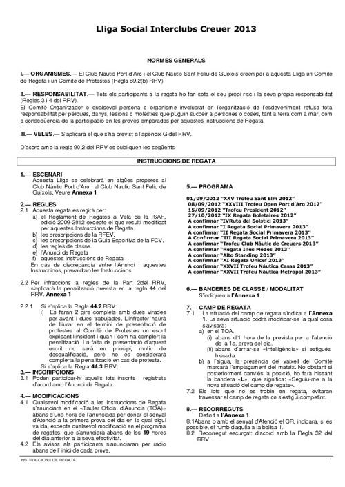 Instrucciones Lliga Social Interclubs 2012-2013