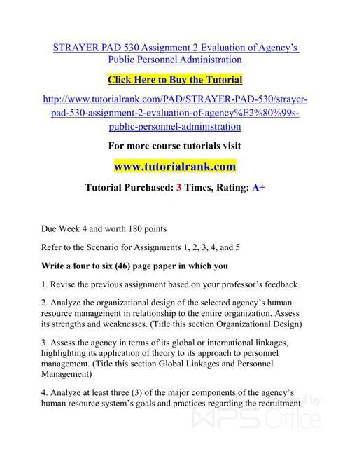 PAD 530 Potential Instructors / tutorialrank.com