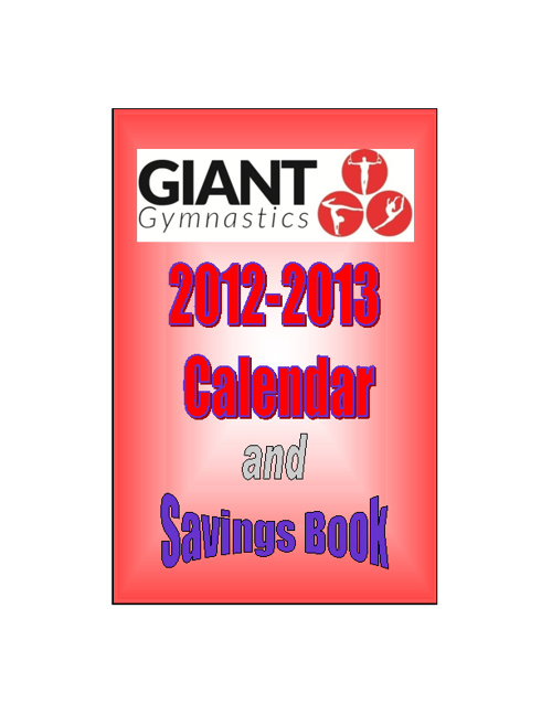 Giant Gymnastics Savings Book