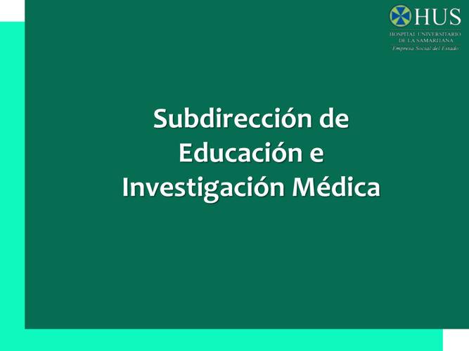 EDUCACION MEDICA