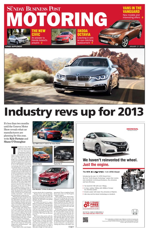 SBP Motoring January 2013