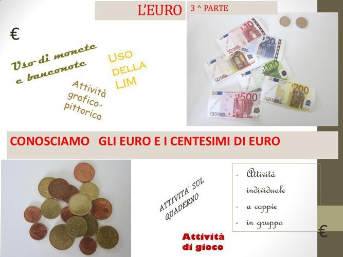 centesimi ed euro insieme