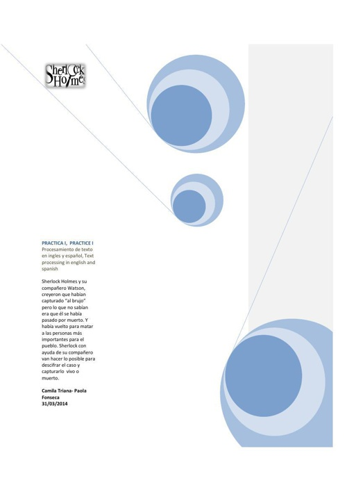 MOVIE  SHERLOCK HOLMES procesamiento de texto 3 pdf