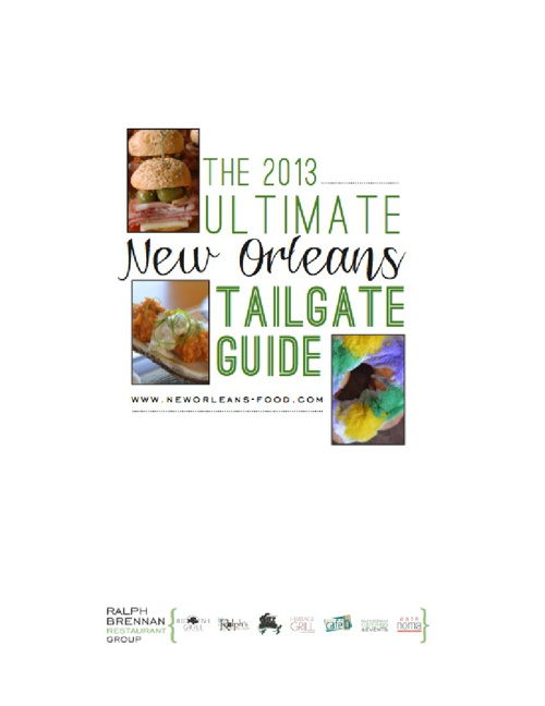 Ralph Brennan's 2013 Ultimate New Orleans Tailgate Guide