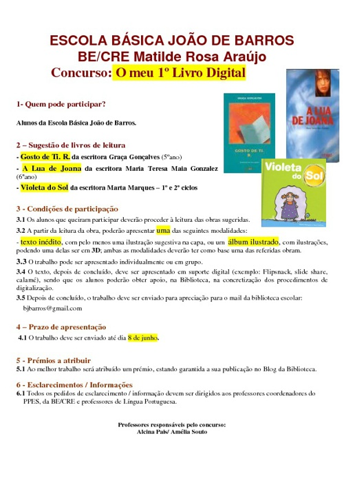 """New Flip 6Concurso """"O meu 1º Livro digital"""""""