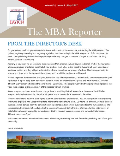 MBA Reporter - May 2017