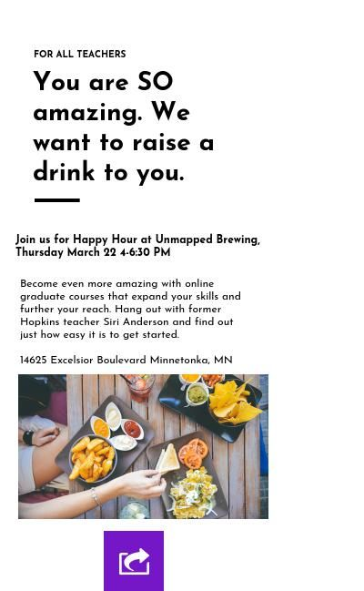 Happy Hour Information Session