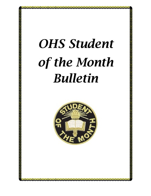 OHS Student of the Month