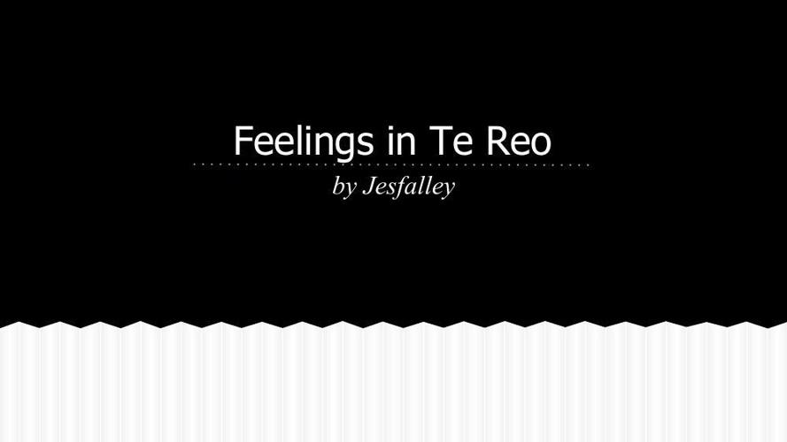 feeling in te Reo