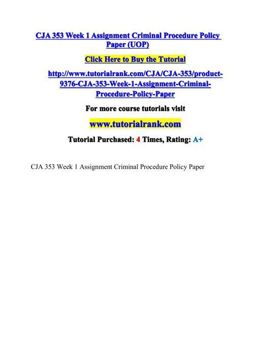 CJA 353 Potential Instructors / tutorialrank.com