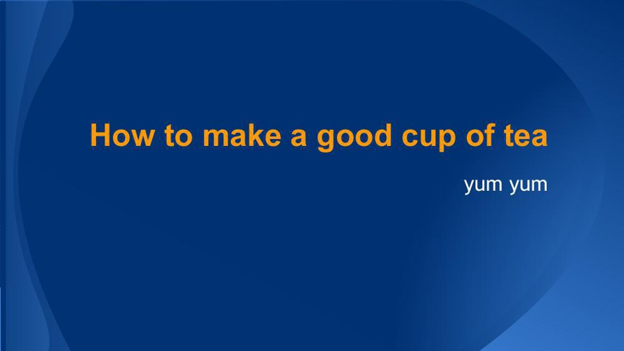 Cup of tea- flipping ebook workshop 2014